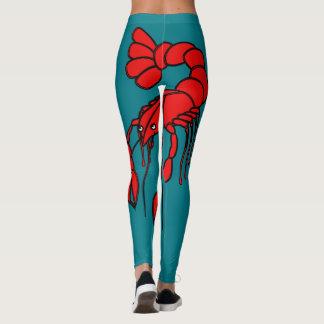 Écrevisses rouges géantes d'amusement leggings