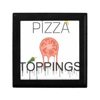 écrimages de pizzza petite boîte à bijoux carrée