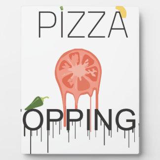 écrimages de pizzza plaque photo