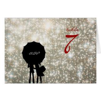 Écrit dans les étoiles épousant la carte de nombre