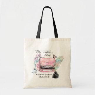 Écriture créative de machine à écrire vintage sacs de toile