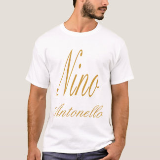 Écriture de fantaisie d'or de Nino Antonello T-shirt