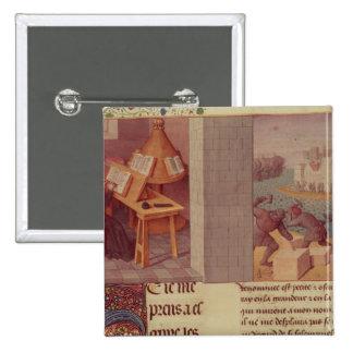 Écriture de Livy et la base de Rome Badge Carré 5 Cm