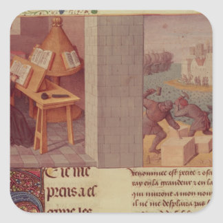 Écriture de Livy et la base de Rome Sticker Carré