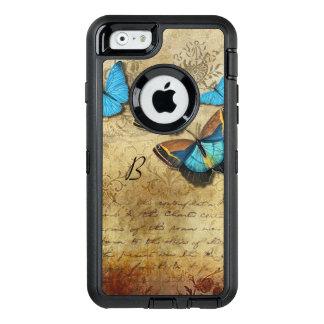 Écriture vintage et papillons coque OtterBox iPhone 6/6s