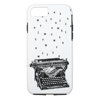 Écrivez/caisse de machine à écrire coque iPhone 7