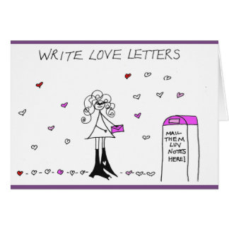 Écrivez la carte de Crazyhair de lettres d'amour