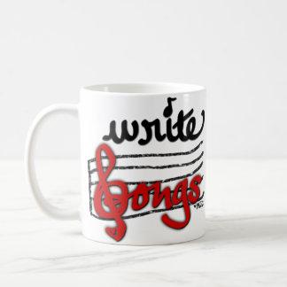 Écrivez la tasse de café de chansons