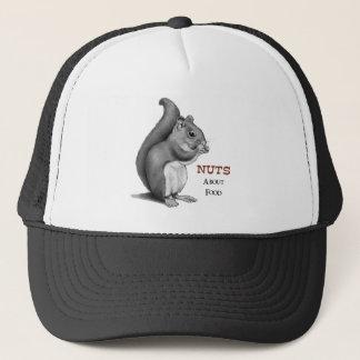 Écrous au sujet de nourriture : Écureuil : Dessin Casquette
