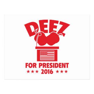 Écrous de Deez pour le président Carte Postale