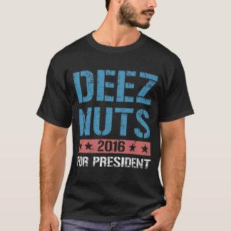 Écrous de Deez pour le président T-shirt