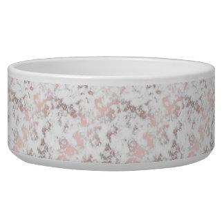 Écuelle blanc, marbre, or rose, moderne, chic, beau, eleg