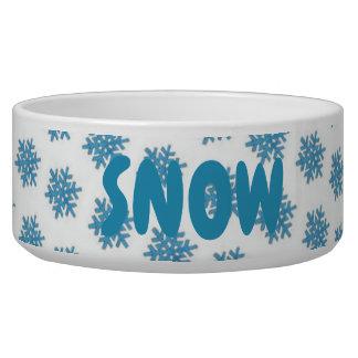 Écuelle Chien bleu de neige de flocon de neige d'hiver de