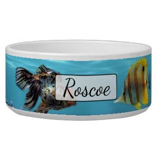 Écuelle Cuvette bleue personnalisée de chien d'aquarium de