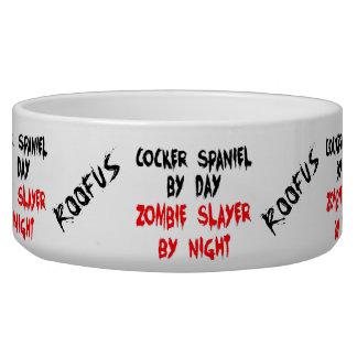 Écuelle Cuvette nommée de plaisanterie de zombi de chien