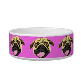 Écuelle Cuvette rose de chien de visage de chien