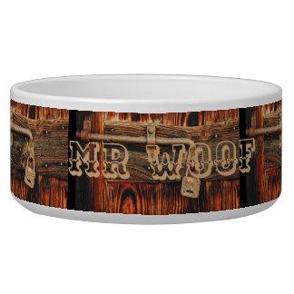 Écuelle Dogbowl en bois de grain avec la serrure et le