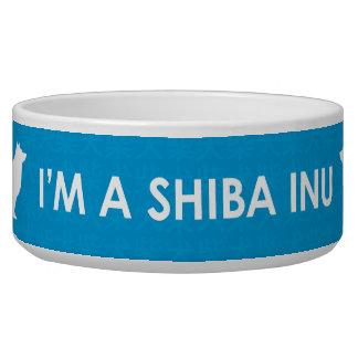 Écuelle Je suis une cuvette de bleu de Shiba Inu