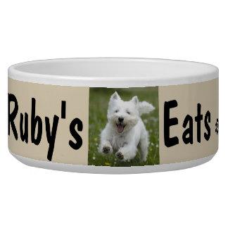 Écuelle La photo et le nom de votre chien personnalisent