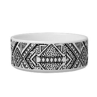 Écuelle Motif tribal aztèque noir et blanc frais