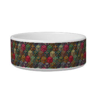 Écuelle Patchwork vintage avec les éléments floraux de
