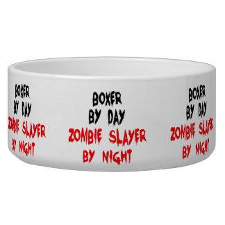 Écuelle Plaisanterie de chien de boxeur de zombi