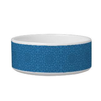 Écuelle Plat vintage bleu décoratif d'animal familier de
