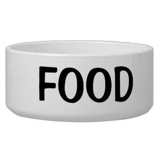 Écuelle Texte noir simple de nourriture