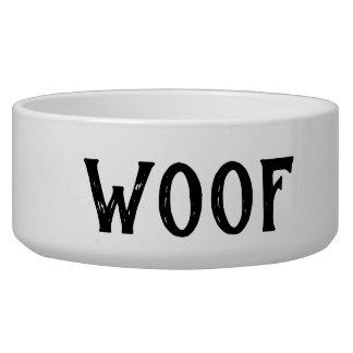 Écuelle Woof a personnalisé la grande cuvette de chien