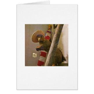 Écureuil d'empaillage dans une carte de note de