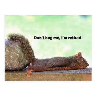 Écureuil d'humour de retraite carte postale