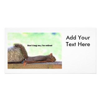 Écureuil d'humour de retraite cartes de vœux avec photo