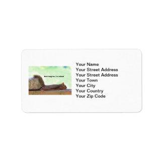 Écureuil d'humour de retraite étiquettes d'adresse
