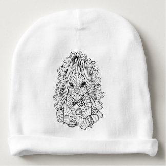 Écureuil fantastique de forêt bonnet de bébé