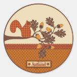 Écureuil le thanksgiving d'Applique-regard de bran Autocollants