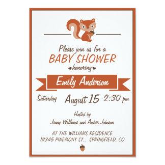 Écureuil mignon - invitation de baby shower