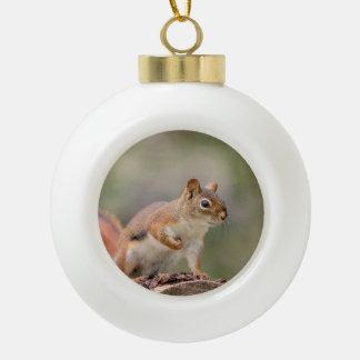 Écureuil rouge boule en céramique
