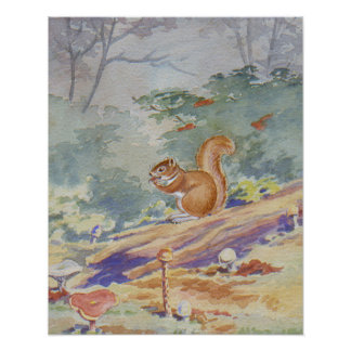 Écureuil rouge copie 16 x 20 poster