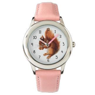 Écureuil rouge vintage mignon montres