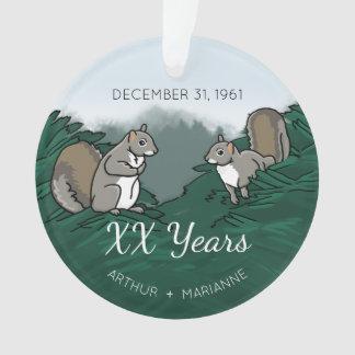 Écureuils personnalisés d'anniversaire de mariage