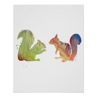 Écureuils Poster