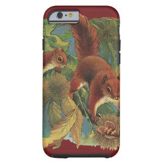 Écureuils vintages, animaux sauvages, créatures de coque iPhone 6 tough