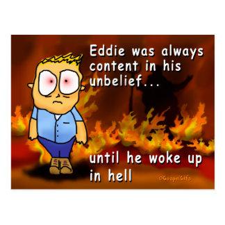 Eddie se réveille dans l'enfer carte postale