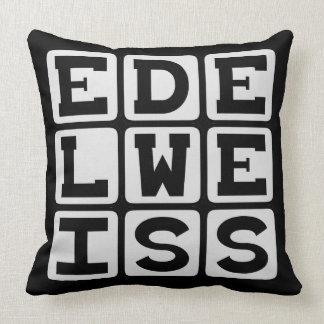 Edelweiss, fleur blanche coussin