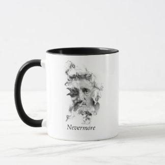 Edgar Allan Poe dans la fumée avec Raven - plus Mug