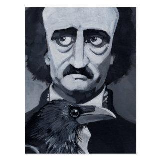 Edgar Allan Poe la carte postale de Raven