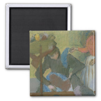 Edgar Degas | à la modiste, c.1898 Magnet Carré