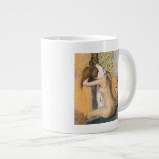Edgar Degas | après Bath, cou de séchage de femme Grande Tasse