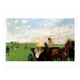 Edgar Degas - au pays emballe le cheval 1872 Scape