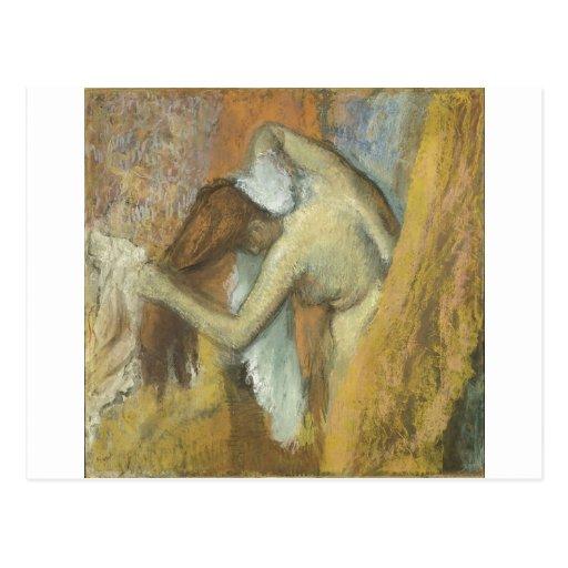 Edgar Degas - cheveux 1900-05 de vanité de toilett Carte Postale